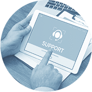 depositphotos 144165021 stock photo support concept on screen