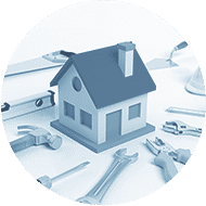 depositphotos 74846167 stock photo house model with tools isolated