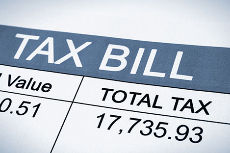 property management: paying tax and bill