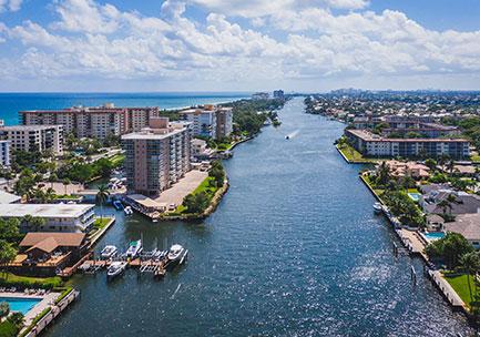 real estate management: aerial scenario of Deerfield Beach