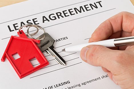 property management company signing a lease agreement