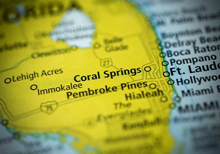property management: coral springs map location