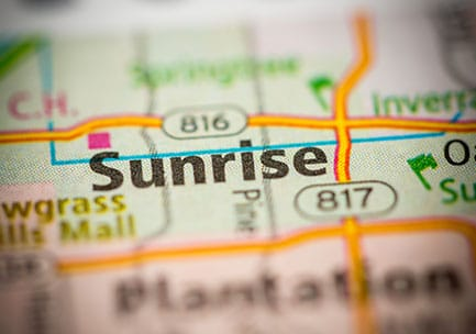 property management service: Sunrise map