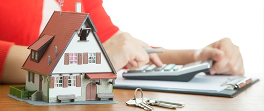 your rental property's model with keys