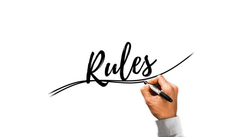1 Lay Down Your Rules