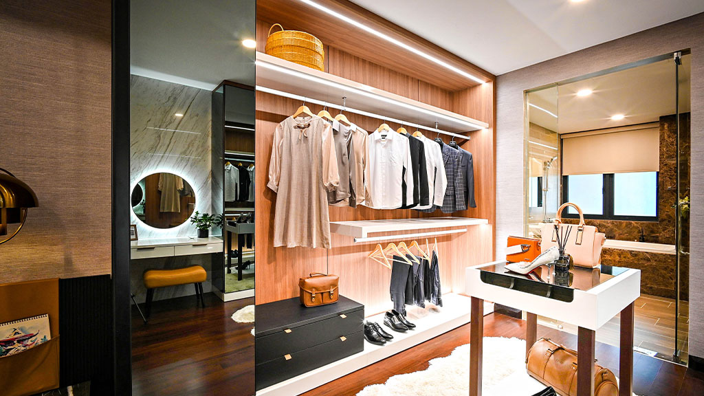 Double your closet's hanging space