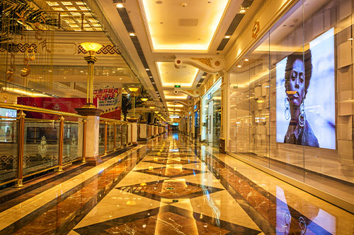 Professional shopping center management companies